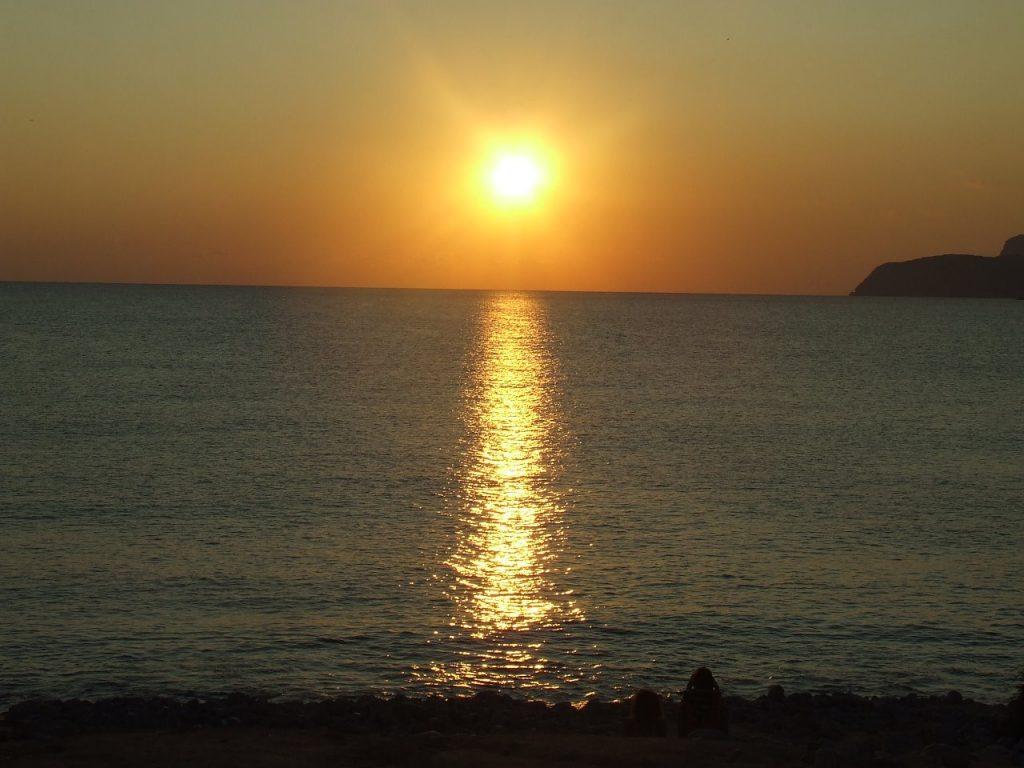 Experimental Beach zonsondergang