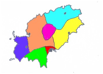Ibiza landkaart verdeling - kopie