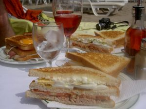 Tropicana Club sandwich