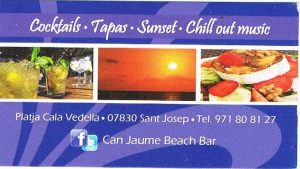 Can Jaume visitekaartje